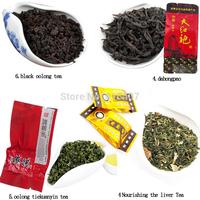 4 Different Flavors Famous Tea, 12small bags including Nourishing the liver Tea,Oolong Tieguanyin t,Dahongpao ,black oolong tea
