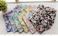 2014 Fashion summer new High Waist Elastic Cotton fresh floral women shorts pants short