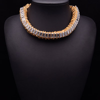 2014 gold silver color necklaces & pendants fashion brand vintage costume za chunky choker Necklace statement jewelry women 8602