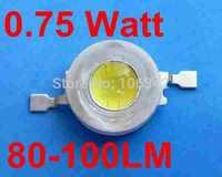The Best price 0.75Watt High Power LED TaiWan Chip 80-100lm 1000pcs/lot