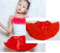 Red 1pcs Chirstmas princess baby saia skirt tutu skirt pettiskirt saia infantil 130 Free shpping  girls tutu skirt