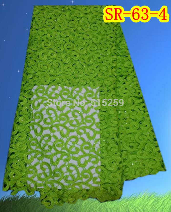 African cotton crochet lace green cord lace fabric SR-63-4(China (Mainland))