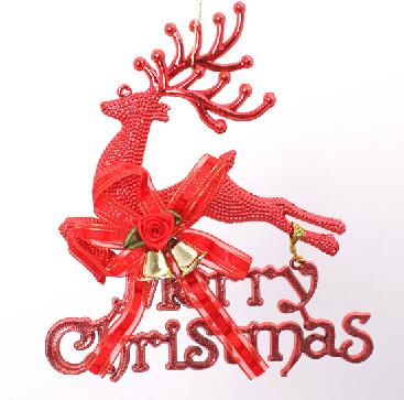 2015 new 18cm elk alphabet cards Christmas bells hanging Christmas decorations hanging 1lot=5pieces gv301(China (Mainland))