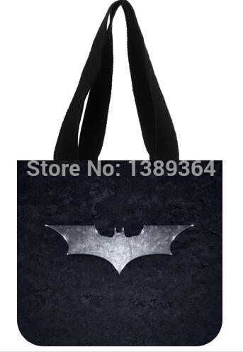 Fashion girl and women shopping bag two side batman logo printed canvas tote bag(China (Mainland))