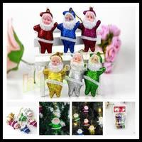 Christmas tree decorations Santa Claus pendant Father Christmas hanging ornaments Xmas Kriss Kringle decorative pendant