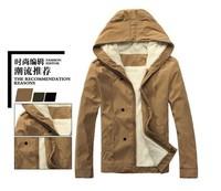 Winter men jacket men brand cotton warm coat for men slim outwear leisure zipper hoody men jacket free shipping  four color
