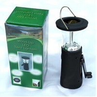 LED Portable lantern wind-up LED tent lantern three source lamp solar lantern fishing light camping lantern