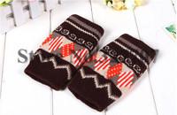 New Fashion Autumn Winter Knitted Wool Women Gloves Fingerless Warm Lady Mittens Gloves