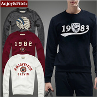 Brand Men shirt Anjoy&Fitch long sleeve high-end combed cotton sweater t-shirt camisa masculina elastic new arrial free shipping