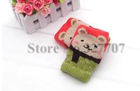 Cute Girl Lady Fingerless Cartoon Autumn Winter Gloves Kintted Wool Women Mittens Lovely Bear Gloves