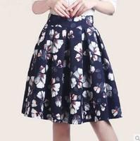Free Shipping Hitz Europe and America Retro Printed waist Bust skirt