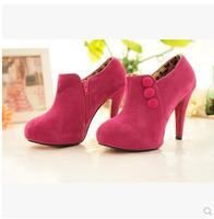 2014  New Arrival Vogue Ladies' Stilettos Platform Pump Suede High Heel Shoes Ankle Boots 2 Colors Free Shipping