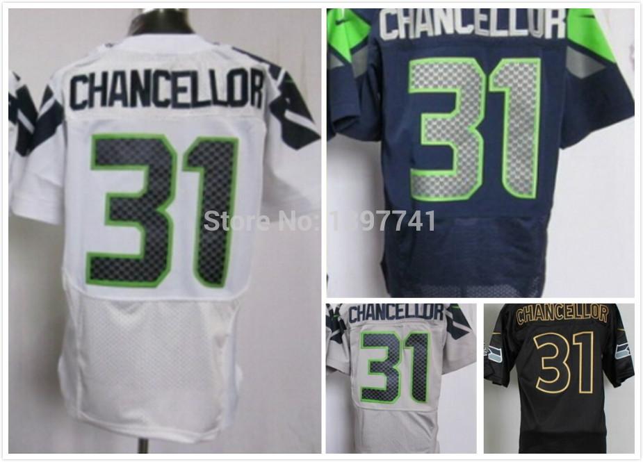 Free Shipping Mens Elite jersey Seattle 31 Kam Chancello Jersey,American Football Jerseys cheap jersey(China (Mainland))