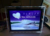 Thickness 9mm 30x40cm led crystal boxs, acrylic LED boxs, PMMA advertising boxs