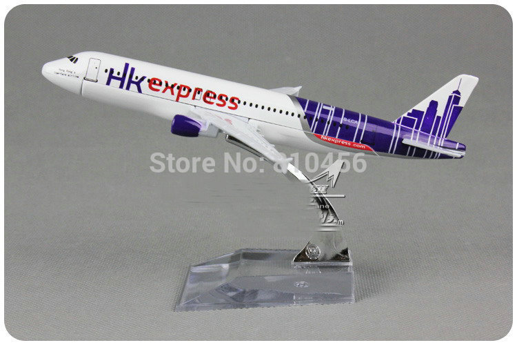 Free Shipping,HK express Airways plane model A320 scale plane models airplane model free shipping(China (Mainland))