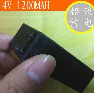 Grátis frete 4 v 1200 mah bateria de chumbo ácido bateria recarregável lâmpada / lanterna / elétrica mosquito swatter bateria(China (Mainland))