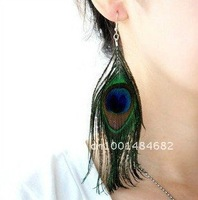 ED-002 wholesale cheap Fashion earrings high quality brown feather earrings free shipping
