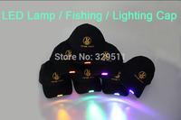 8 Color LED Light Emitting Hat  Luminous LED Cap Flash Cap Led Hat Baseball Lamp Cap For Hunting Fishing Lighting