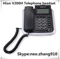 Hion V200H telephone headset telephone headphones noise canceling headset customer service operator,analog phone,Free shipping
