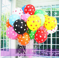 2014 Real Freeshipping Balloons New Arrival 100pcs/lot Mixed Color No Bad Small Polka Dot Balloons for Wedding Decoration Party
