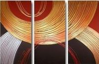 100% handy HUGE WALL CANVAS ART OIL PAINTING 3PC_WA23