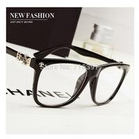 I-bright men/women vintage cross heart gun flower optical myopia glasses frame big oversized prescription eyeglasses frame
