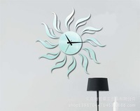KXc-044 stylish decorative wall clock fashion creative marriage living room mirror mute Continental clock watch the sun