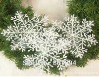 120pcs/lot White Plastic Christmas Snowflake for Christmas Tree /Window/Showcase Decoration 6*6cm s20