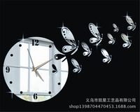 kxc-061 mute wall clock DIY personalized watches upscale living room mirror wall stickers acrylic wall clock