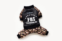 free shipping camouflage FBI dog clothes for spring Autumn winter brand pet clothes for pupy pet product Coat
