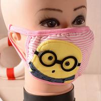 Warm dust masks cartoon striped cotton-fog masks 2014 new fashion boutique wholesale  Color Random