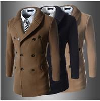 2014 hot sale men jacket collar fashion clothes free shipping wholesale retail thick men's coat cotton warm winter autumn 0222