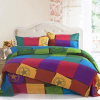 Vera town Queen Size 100% Cotton bedding Include Duvet cover Bed sheet pillowcase Free shipping