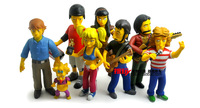 2015 New Hot Sale Simpsons 6-14cm/set Neca Action Figure Simpsons 25th anniversary of the full set of model toys Free Shipping