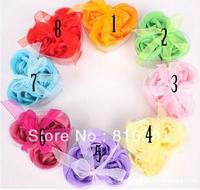 Free shipping Cheap 3pcs/set, Rose Flower Petal Soap Bath Petals Soaps Heart Good Smell 50sets/lot,Wedding Favors and Gifts