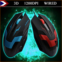 2015 New 1200 DPI 3D Buttons Gaming Mouse Mice Mouse Gamer Wired Optical For Desktop Laptop With Free Shipping
