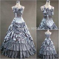 green/silver/burgundy lolita adults Medieval dress Renaissance gown Sissi princess costume Victorian Belle Ball