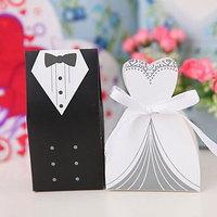 100pcs Ribbon Wedding Favor Candy boxes Wedding Party Gift Box-Free Shipping