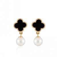 YaHan Jewelry Free aliexpress Hot sell ashion stud earrings four leafs earring for women