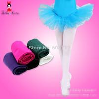 2014 Girls  white black  velvet dancing leggings girl's professional ballet dance leggings freeshipping