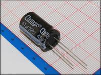 100Pcs 13mm*20mm 47uF 200V High Voltage Through Hole Alumilum Electrolytic Capacitor