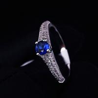 Wedding Ring Rhodium Plated Polish Rings For Women Fashion Brand Jewelry Zirconia Rings Accessories
