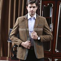 2014 New Fasion Blazer Men's Upscale Wool Suit Formal Business Suit Coats Classic Casual Men's Jacket Man Comfy Blazer Outwear