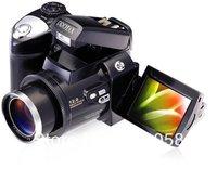 "Free shipping  Wholesale  DC black Color DC600 Digital Camera 2.4"" LTPS TFT LCD 270 Degree Rotation 8 X Digital Zoom PC"