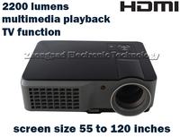 Free shipping: Multimedia LED Digital VIDEO PROJECTOR HOME THEATRE 2HDMI 2USB 2200LUMENGS VGA TV USB