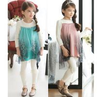 2014 New Child Princess Suit  Pants Two-piece Snow Suit Girl 's Children's Clothing   K6139