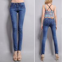 Wholesale new arrival skinny jeans Stretch jeans women Denim trousers Popular Fashion famous brand plus size 25-31 jeans woman