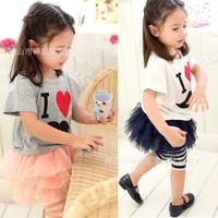 2014 Korean Style Casual Cotton Girls Summer Dresses Kids Girls Short Sleeve Lace Princess Dress  Suit K6255