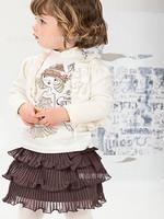 2014  New Arrival Children Clothing Girl Suit Long Sleeve  Print  Dress Leggings 2Pcs Girl Set K6211