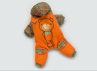 Free Shipping Pet Dog Clothes 2014 Winter New Gentleman Bear Dog Four Legs  Winter Suit Puppy Clothing Top Quality